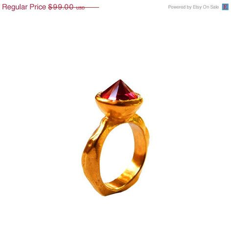 20% OFF ALL ITEMS Red Ruby Cocktail Ring  by ChenFuchsJewelry
