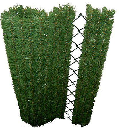 Siepe Permanenti 41 filamenti autoblocante di aspetto naturale - Siepe artificiale alta gamma del mercato, PVC verde oscuro / Verde chiaro / marrone 152 x 8 x 180 cm