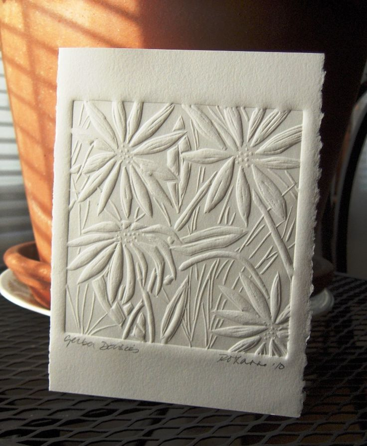 Gerbera Daisies (embossed) http://epherielldesigns.com/a-year-of-craft-roxanne-button-kujawa-paper-embossing