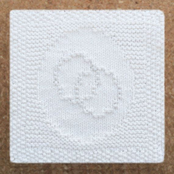 Knitted Dishcloth Patterns Wedding : Wedding ring dishcloth, hand knitted dish cloth, 100% cotton, hand knit washc...