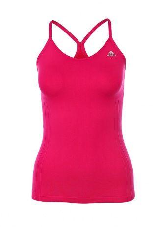 Спортивная майка adidas Performance отлично подходит для спортивных тренировок. Модель насыщенного розового цвета выполнена из технологичного материала ClimaLite, который поглощает излишки влаги и выводит их наружу. Детали: облегающий крой, круглый вырез, светоотражающий логотип бренда на груди, тонкие бретели, рифленый орнамент. http://j.mp/1t0ciIT
