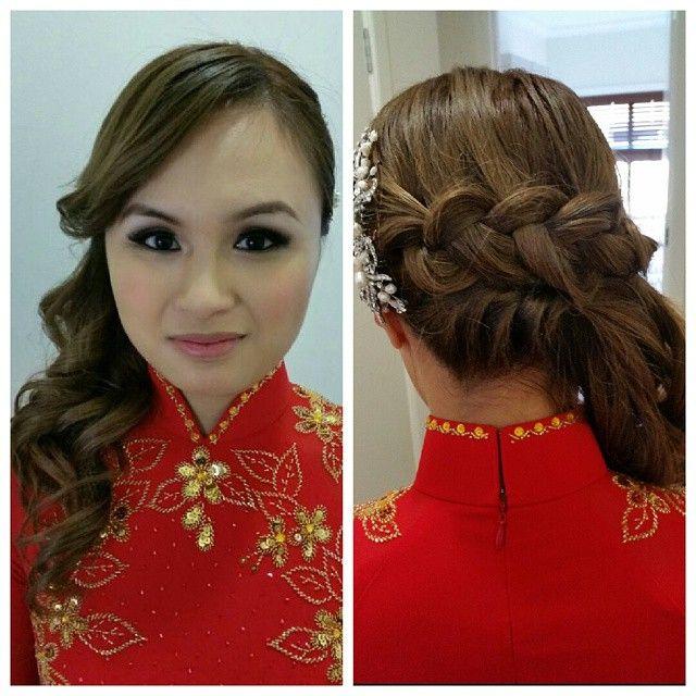 Asian wedding makeup, Asian Bridal Makeup, Wedding Hairstyle, Bridal Hairstyle