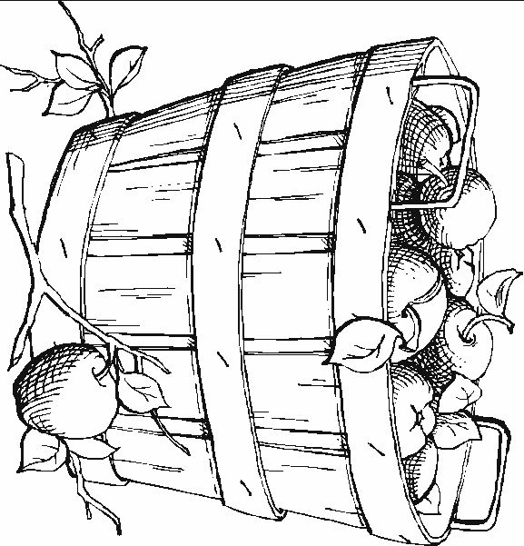 children picking apples coloring pages - photo#32
