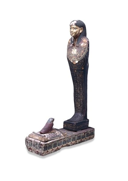 Painted wooden figure of Ptah-Sokar-Osiris From the burial of Hornedjitef, Thebes, Egypt Ptolemaic Period, around 220 BC. © Trustees of the British Museum