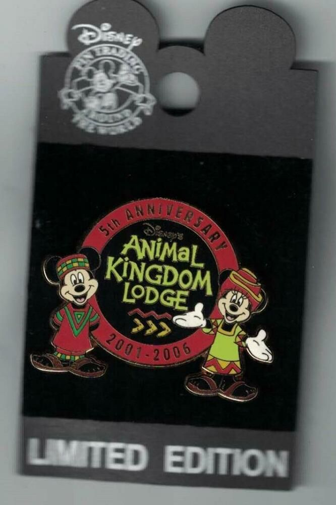 Disney 2006 Wdw Animal Kingdom Lodge 5th Anniversary Mickey Minnie Mouse Pin Mickey Minnie Mouse Wdw Animal Kingdom Lodge Animal Kingdom Lodge
