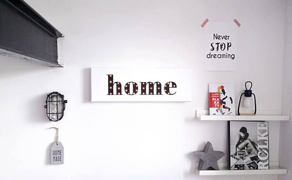 HOME marquee sign HOME decor Marquee letters Custom Our