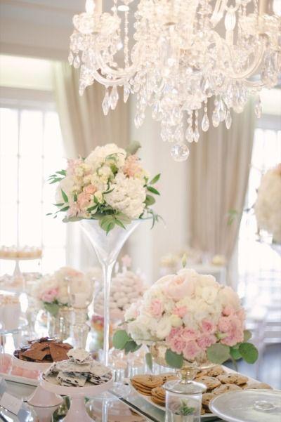 Blush bridal shower: http://www.stylemepretty.com/canada-weddings/2014/07/01/blush-blossoms-bridal-shower/ | Photography: Heidi Lau - http://www.heidilau.ca/