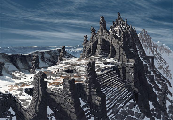 Elder Scrolls V : Skyrim images Nordic Temple Ruins- Concept Art HD fond d'écran…