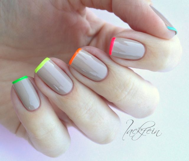 Neon French Tip Nail Designs: 25+ Best Ideas About Neon French Manicure On Pinterest