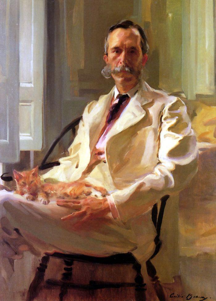 Cecilia Beaux  Portrait of Henry S. Drinker & Kitty