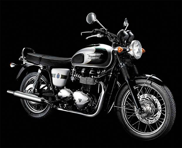 Triumph Bonneville T100 110th Anniversary Edition  Triumph is celebrating its 110th year of making England's most iconic motorbikes. The limited edition Bonneville T100 is based on their 1902 T100 No.1, and packs a parallel twin 865 cc motor, spoked wheels, and a tasteful smattering of chrome.- werd.com