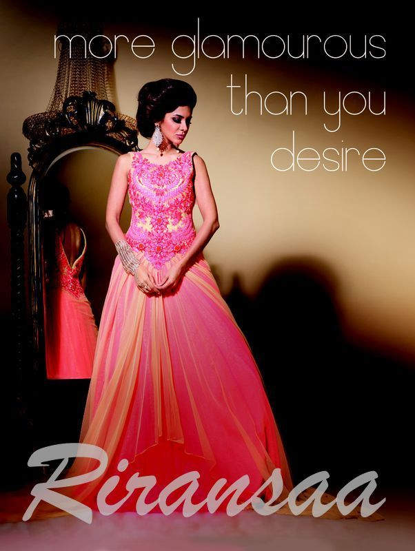 Designer Gown created by Harsh Patel at Riransaa Fashion Studio, Surat.