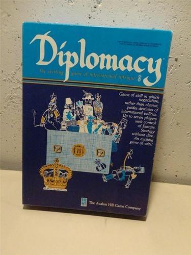 Vintage Diplomacy Board Game in Original Box 1976 Avalon Hill's #81  $26