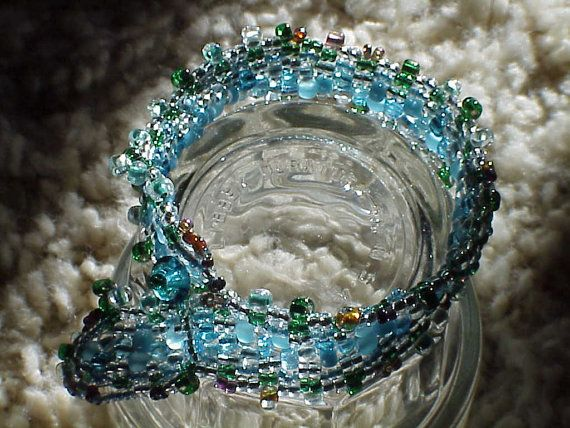 Peyote, handmade, beaded, bracelets.