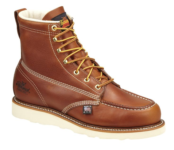 Thorogood Shoes Men's American Heritage 6 Moc Toe Safety Toe Wedge Work  Boots (Brown, Size - Lace St Work Boots at Academy Sports