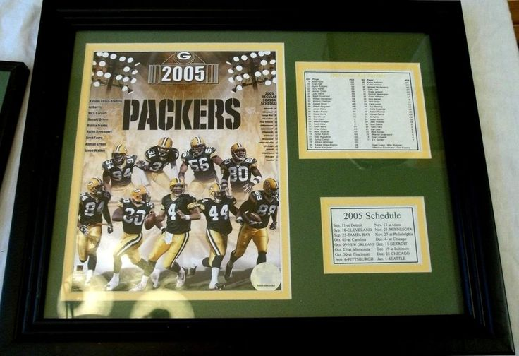 Green Bay Packers Nfl Season Schedule 2005 In Frame With Photo  from $30.0