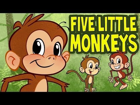 ▶ Five Little Monkeys Jumping on the Bed - Animated Nursery Rhyme by The Learning Station - YouTube