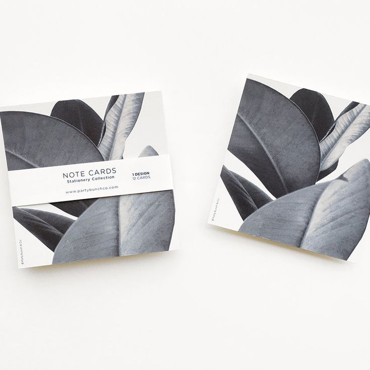 Grey leave Notecards by Party Bunch & Co for sale on http://hellopretty.co.za