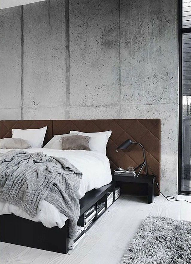 LOVING THIS EXPOSED CONCRETE IN EACH OF THESE BEDROOMS surprisingly warm and inviting, yes? {Pics: Pinterest} we think you'll also love...home inspiration: CONCRETE CHIChome inspiration: CONCRETE FLOORShome inspiration: HOME OF 100 ROSEShome inspiration: OUTDOOR LOVEhome inspiration: GREY & WHITE BEDROOMShome inspiration: A TOUCH OF GREEN