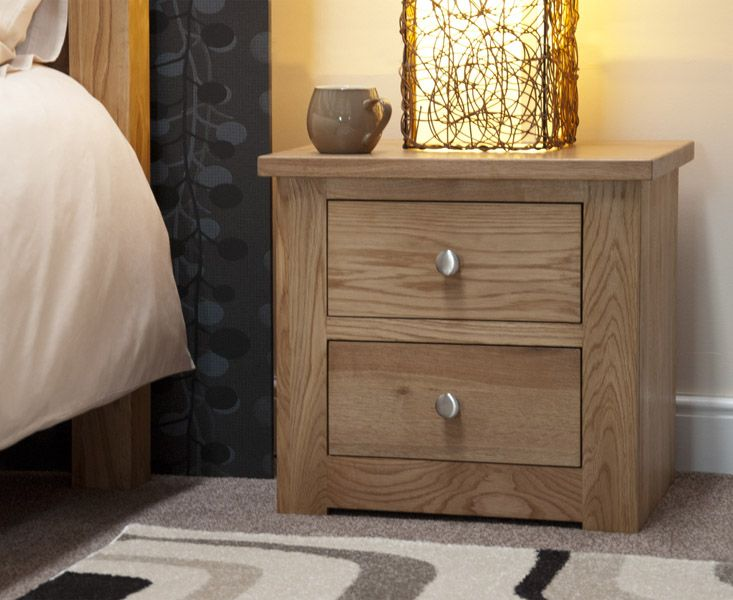 Homestyle GB Reno 2 Drawer Narrow Bedside Cabinet