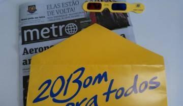 AdNews - Jornal Metro é distribuído em envelopes do Banco do Brasil