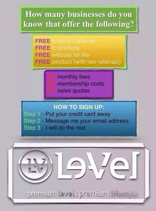 Le-Vel and Thrive is changing my life! FREE to be a customer because there's no membership fees or penalties, FREE to be a promoter, because there's no membership fees, no penalties, no sales quotas, no inventory needed. Get FREE product as a customer or promoter! Think it's too good to be true?? I was skeptical too until I tried and started myself....PM me and I'll help you on your way to success too! http://ttucker5976.le-vel.com/Login