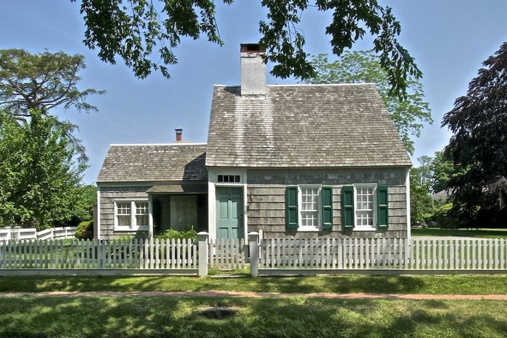 I chose this Cape cod Cottage for the wood claperts.