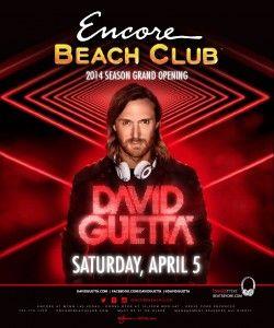 David Guetta at Encore Beach Club Las Vegas