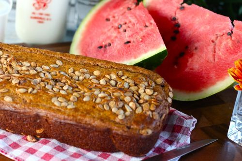 Watermelon bread recipe with roasted watermelon seeds