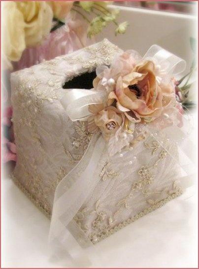 Small Gilded Opulence Tissue Holder