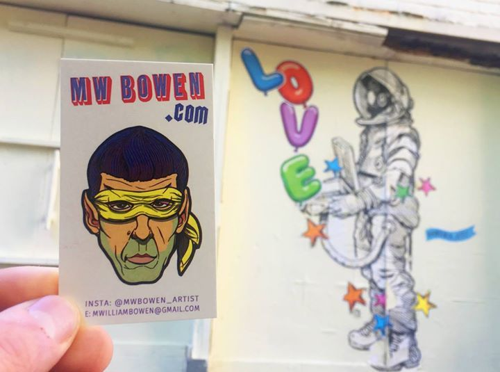 Great use of our uncoated cream stock for these business cards printed for artist Matt Bowen. You have seen his work around Vancouver and we were thrilled to print his cards. Check out more of his work at http://mwbowen.com