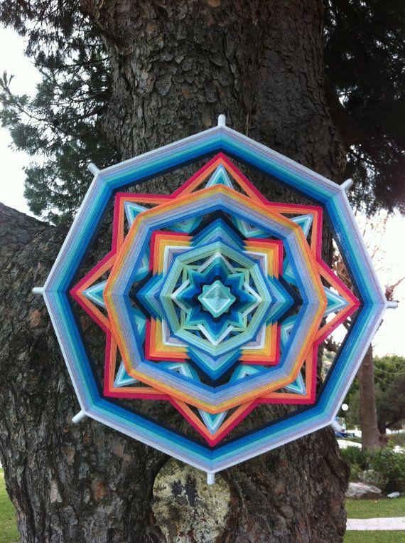 Tender feelings Yarn Mandala / Ojo de Dios by by TeddyRusaLena