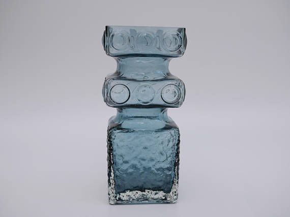 Smoky Blue Kehrä Glass Vase by Tamara Aladin for Riihimäki