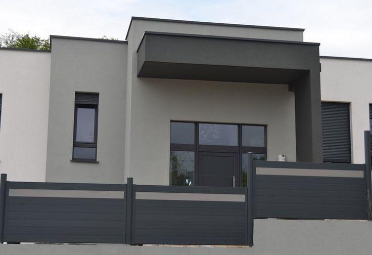 Facade grise anthracite recherche google fa ades - Facade maison grise ...