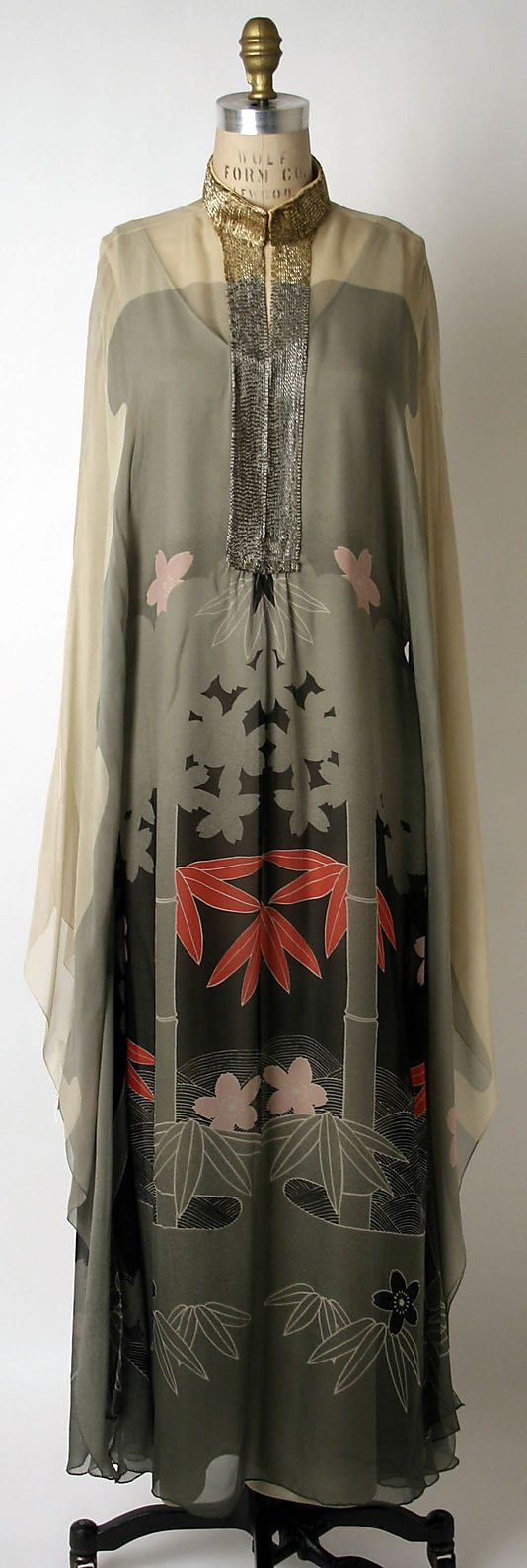Evening dress Hanae Mori  (Japanese, born 1926) Date: ca. 1975 Culture: Japanese Medium: silk, beads