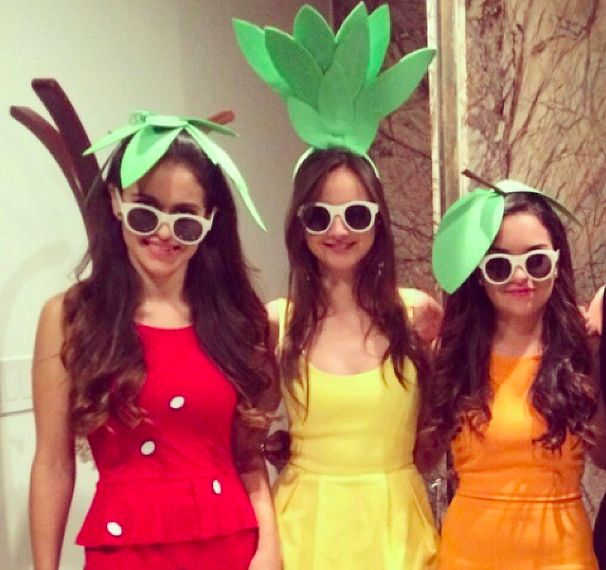 Fruits costumes.