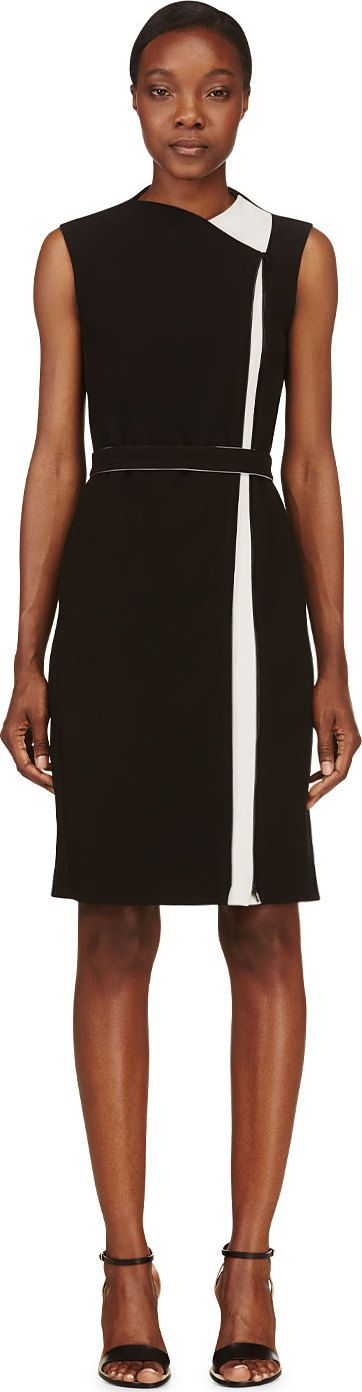 Calvin Klein Collection - Black Technical Wanda Dress