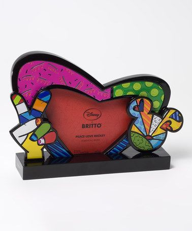 Loving this Disney by Britto Peace Love Mickey Frame on #zulily! #zulilyfinds