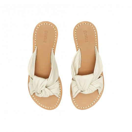 Knotted Leather Slide Sandal / Soludos