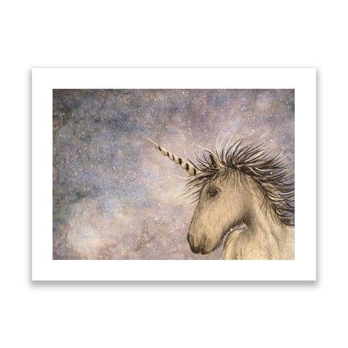 Unicorn Skies Print by carolinelord at zippi.co.uk