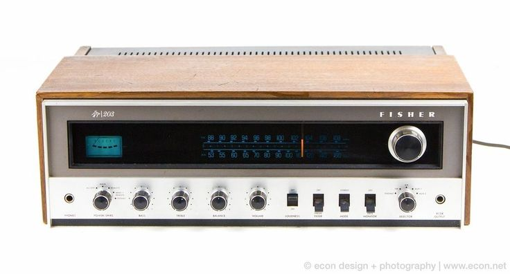 Vintage THE FISHER 203 Silver Face Stereo Receiver 30W Japan 1973 Wood Cabinet #Fisher