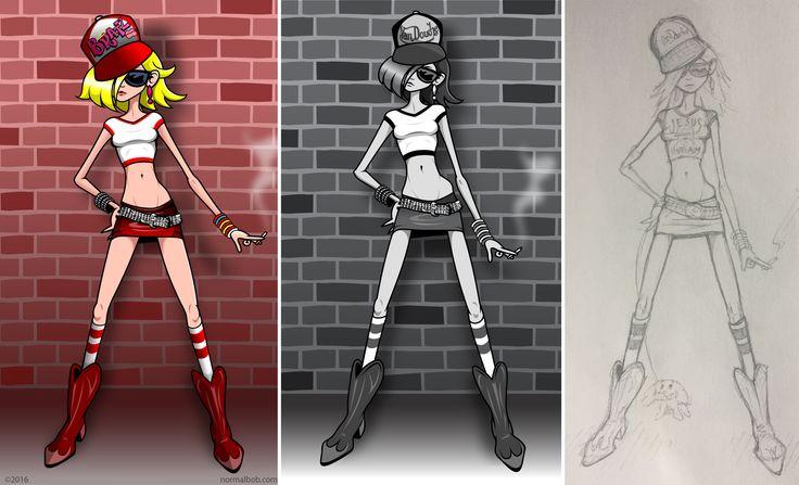 Bratz girl, Adobe Illustrator