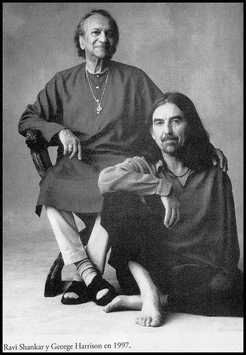 """I think people who truly can live a life in music are telling the world, 'You can have my love, you can have my smiles. Forget the bad parts, you don't need them. Just take the music, the goodness, because it's the very best, and it's the part I give most willingly"" ~ George Harrison (pictured here with Ravi Shankar)"
