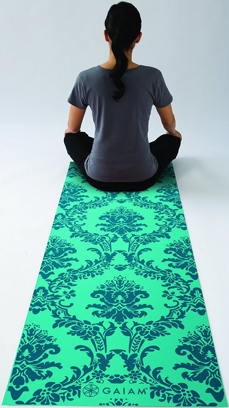 Amazon.com : Gaiam Print Yoga Mat, Pink Marrakesh, 3/4mm : Sports & Outdoors