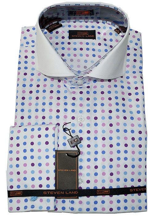 Steven Land Shirt # 1119 Violet at AlligatorWorld.com - Exotic Skin Shoes