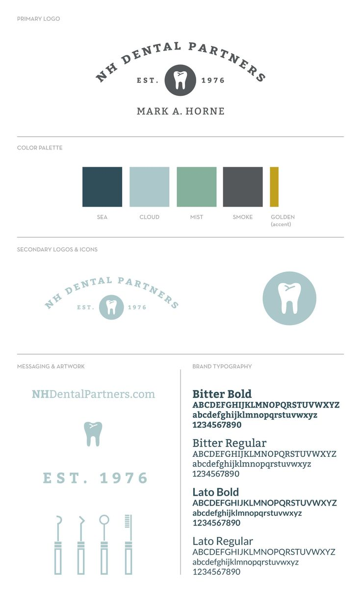 Dental Group Logo and Brand Identity - dentist branding
