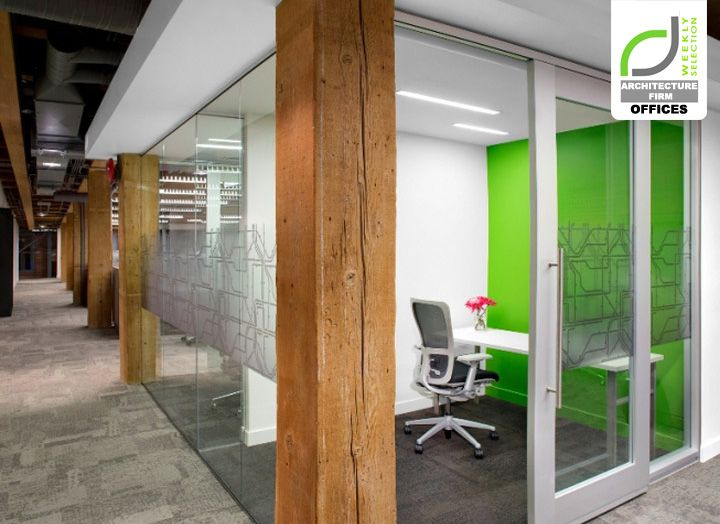 Architecture firm offices urban systems office by ashley for Modern interior design firms