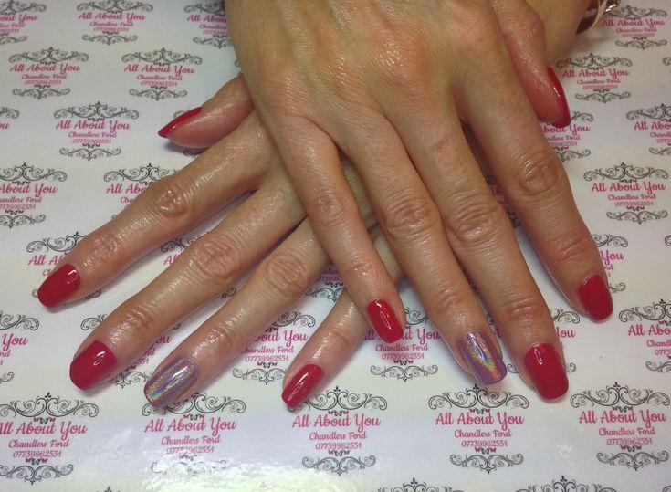 #unicorn #accent nail, #christmas #manicure