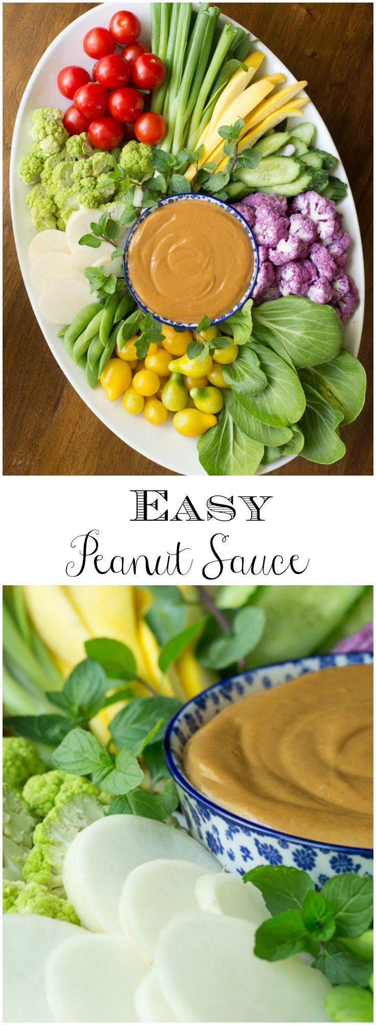 Just like the name says, this Easy Peanut Sauce is super simple!  It's delicious with raw veggies and grilled entrees but that's just the beginning!