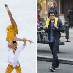 During his gold medal performance, Russian skater Maxim Trankov appeared to channel Orlando Bloom circa Pirates of the Caribbean. 13 Olympians in Sochi 2014 Who Look Like 13 Celebrities http://shar.es/Fs667